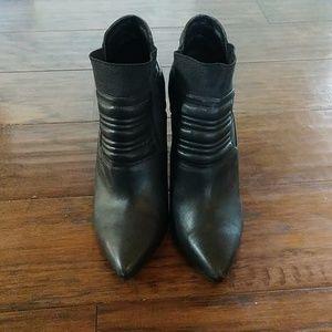 Joe's black leather high heel short bootie